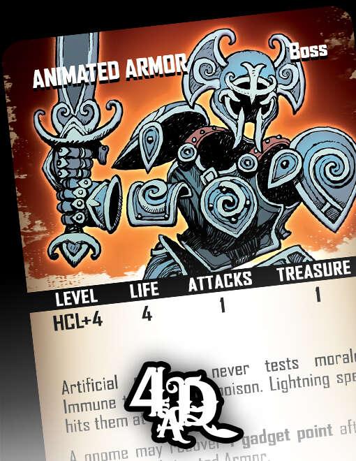 Animated Armor - Boss Card