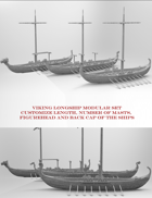 Modular Viking Longship set