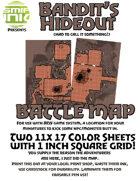 2 sheet BATTLEMAP bandit's hideout