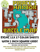 8 sheet BATTLEMAP pirates harbor