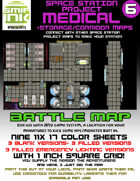 9 sheet BATTLEMAP space station set 6 medical, storage