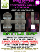 9 sheet BATTLEMAP space station set 8 community halls