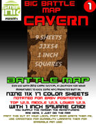 9 sheet BATTLEMAP BIG CAVERN