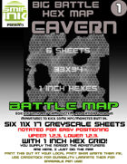 6 sheet BATTLEMAP HEX CAVERN