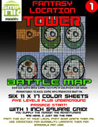 6 sheet BATTLEMAP FANTASY LOCATION TOWER