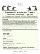 Scenario 125. Free Download to preview Blitzkrieg in the West 1940 Volume III 50 Wargame Scenarios Dutch vs Germans