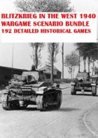 Wargame Bundle. Blitzkrieg in the West 1940. 192 Wargame Scenarios. 25% Saving!