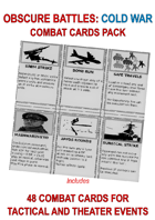 OBSCURE BATTLES 2 - COLD WAR - COMBAT CARDS DECK