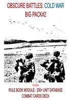 OBSCURE BATTLES 2 - COLD WAR - BIG PACK#2 (DESIGNER WORKSHOP EDITION)