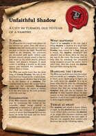 Scrolls of Adventures: Adventure Plot - Unfaithful Shadow