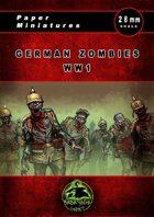 German zombies WW1 Paper Miniatures