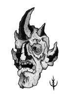 GARGOYLE HEAD -Stock art