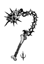 SKULL FLAIL - Stock art