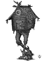 BABA YAGA HOUSE - Stock art