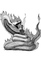 FLAMING VIPER - Stock art