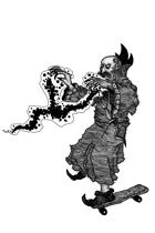Warlock Skate - Stock art