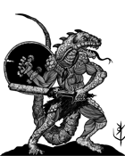 LIZARD MAN (LIZARDFOLK) - Stock art