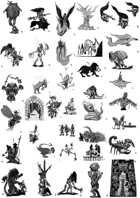 38 CREATURES PACK - Stock art