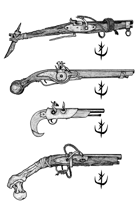 Weapons pack - Pistols 2 - Stock Art