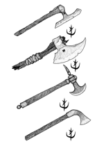 Weapons pack - Hand Axes 1 - Stock Art