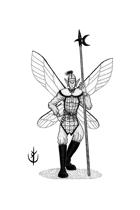 SPRITE (warrior fairy) - Stock art