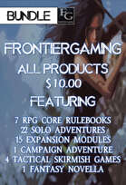 AFG025 All FrontierGaming Products [BUNDLE] , from $175.71 to $9.99 at DriveThruRPG