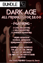 DA012 All 'Dark Age' Products for $8.00 [BUNDLE]