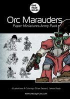Orc Marauders Army Pack - Paper Miniatures