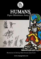 Humans Army Pack - Paper Miniatures