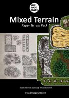OPR Mixed Terrain Pack - Paper Terrain