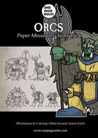 Orcs Army Pack - Paper Miniatures