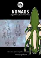 Nomads Fleet Pack - Paper Miniatures
