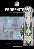 Progenitors Fleet Pack - Paper Miniatures