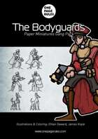 The Bodyguards Gang Pack - Paper Miniatures
