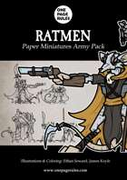 Ratmen Army Pack - Paper Miniatures