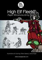 High Elf Fleets Army Pack - Paper Miniatures