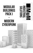Modular Buildings Pack I - Modern Cyberpunk
