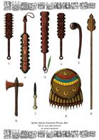 Aztec Melee Weapons Stock Art