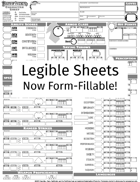 Pathfinder Legible Character Sheet