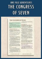 The Congress of Seven - A One Page Adventure for 3rd Level