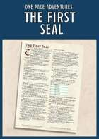 The First Seal - A One Page Adventure for 1st Level
