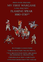 Flaming Spear. 1680-1730. 15mm paper soldiers.