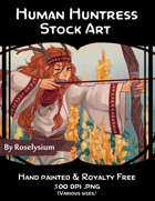 Female Human Huntress - Stock Art