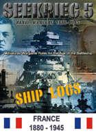 SEEKRIEG 5 Ship Logs - France 1880-1945