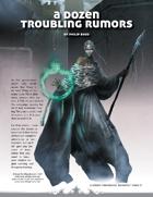 A Dozen Troubling Rumors