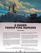 A Dozen Terrifying Rumors
