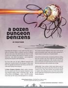 A Dozen Dungeon Denizens