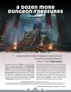 A Dozen More Dungeon Treasures
