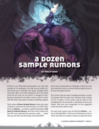 A Dozen Sample Rumors