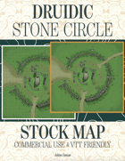 Druidic Stone Circle Stock Commercial Use Map